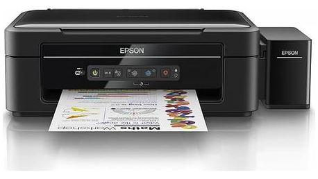 Tiskárna multifunkční Epson L386 (C11CF44401) černá Inkoustová náplň Epson T6644, 70ml originální - žlutý (zdarma)Inkoustová náplň Epson T6643, 70ml originální - červený (zdarma)Inkoustová náplň Epson T6642, 70ml originální - modrý (zdarma)Software F-Secu