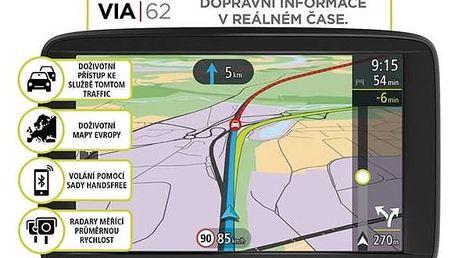 Navigační systém GPS Tomtom VIA 62 Europe LIFETIME mapy (1AP6.002.00) černá + Doprava zdarma