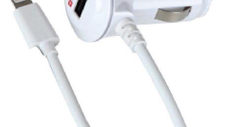 Skross USB nabíjecí autoadaptér, integrovaný kabel Apple Lightning + 1x 1000mA - DC19
