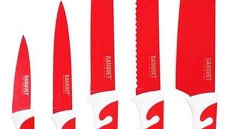 5dílná sada nožů s nepřilnavým povrchem, SYMBIO Rosso