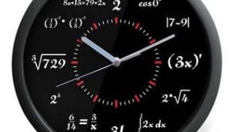 Matematické hodiny - klasik černé