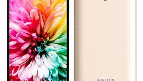 Mobilní telefon Aligator S5062 Dual SIM (AS5062GD) zlatý Software F-Secure SAFE 6 měsíců pro 3 zařízení (zdarma)