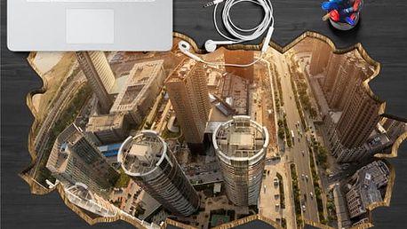 3D samolepka na stůl - velkoměsto