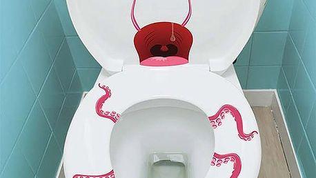 Strašidelné samolepky na záchod