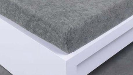 XPOSE ® Froté prostěradlo Exclusive dvoulůžko - tmavě šedá 140x200 cm