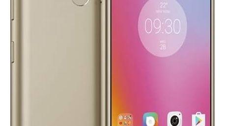 Mobilní telefon Lenovo K6 Power Dual SIM (PA5E0059CZ) zlatý SIM s kreditem T-Mobile 200Kč Twist Online Internet (zdarma)Software F-Secure SAFE 6 měsíců pro 3 zařízení (zdarma) + Doprava zdarma