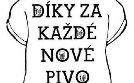 Tričko - Díky za každé nové pivo - XXL