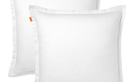Sada 2 bílých povlaků na polštář HF Living Basic, 60x60cm