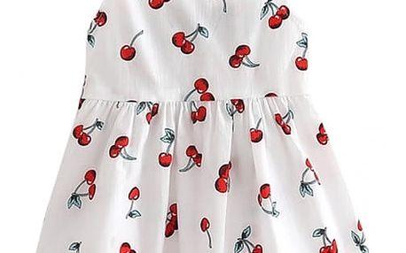 Letní dětské šatičky s třešněmi - 2 barvy
