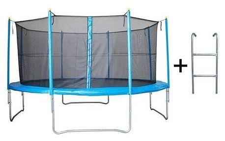 Trampolína Rulyt 366cm x 89 basic + síť, schůdky modrá