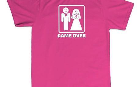 Tričko - GAME OVER - růžové - S