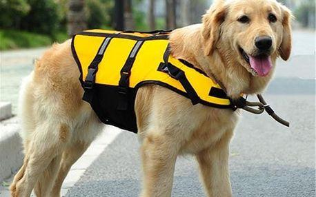 Záchranná vesta pro psy - žlutá velikost L