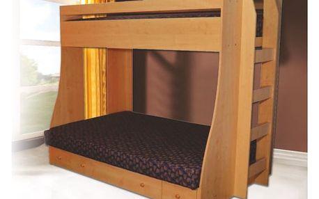 Patrová postel PAT 4 vč. roštu, matrace a ÚP