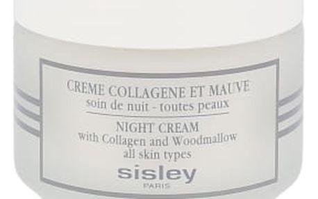 Sisley Night Cream With Collagen And Woodmallow 50 ml noční pleťový krém proti vráskám pro ženy