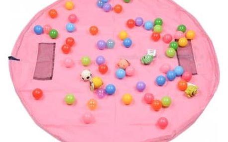 Vak na hračky 156 cm - velký - růžová