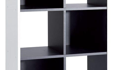 Knihovna GRAFIT bílá/černá