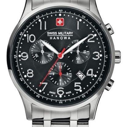 Swiss Military Hanowa 5187.04.007 + pojištění hodinek, doprava ZDARMA, záruka 3 roky
