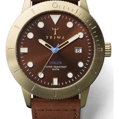 Triwa Chestnut Hvalen Brown Sewn Classic TW-HVST104-SC010213 + pojištění hodinek, doprava ZDARMA, záruka 3 roky