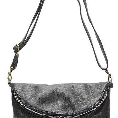 Černá kožená kabelka Grey Labelz Lisa Minardi Vetro - doprava zdarma!