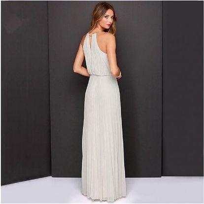 Dlouhé plisované šaty - 2 barvy