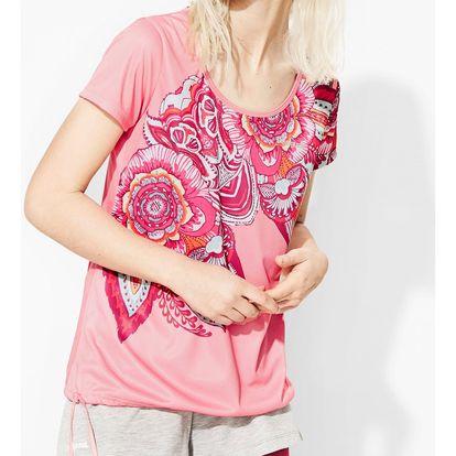 Desigual sportovní tričko A T-S Laces P Paisley
