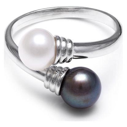Stříbrný prsten s perlou GemSeller Dirk