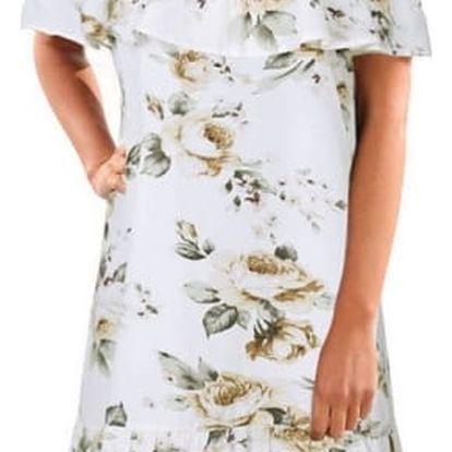 Romantické šaty se spadlými rameny