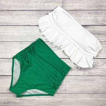 Dvojdílné plavky s vyššími kalhotkami - různé velikosti