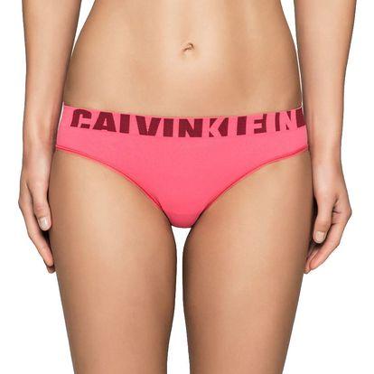 Calvin Klein růžové bezešvé kalhotky Bikini