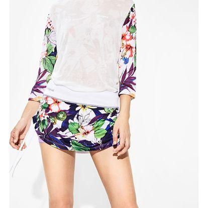 Desigual barevná sportovní sukně A Skirt G Garden