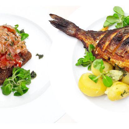 Středomořské rybí menu s pražmou královskou