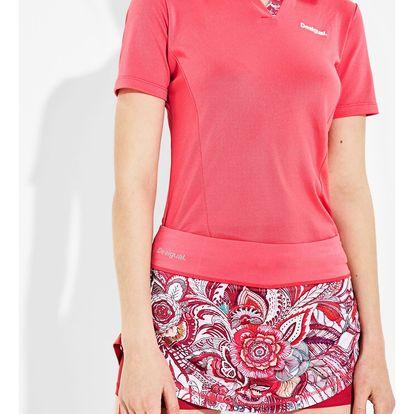 Desigual růžová sportovní sukně A Skirt P Paisley