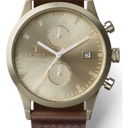 Triwa Sort of Black Champagne Chrono Dark Brown Classic TW-LCST116-CS010417 + pojištění hodinek, doprava ZDARMA, záruka 3 roky