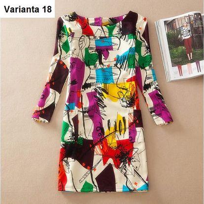 Elegantní dámské šaty s krásnými vzory - varianta 18 (velikost 4XL)