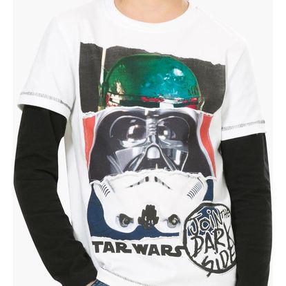 Desigual chlapecké tričko Star Wars Torn
