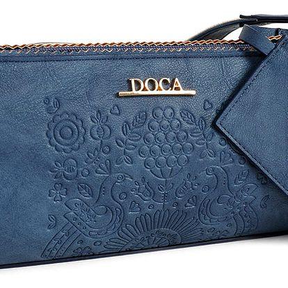 Modrá vzorovaná kabelka Doca