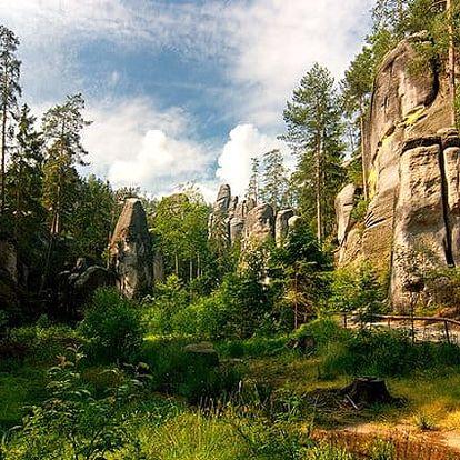 3 až 5denní luxusní pobyt pro 2 s wellness v hotelu Skalní Mlýn**** v Adršpašských skalách