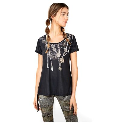 Desigual sportovní tričko A T-S Laces Y Luxury