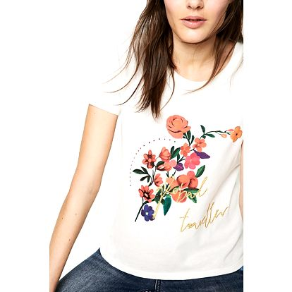 Desigual bílé tričko Marina
