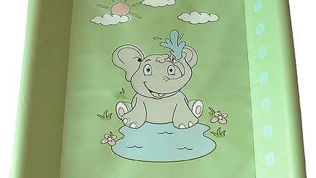 BABY SKY Přebalovací pult měkký 50x70cm – zelený sloník