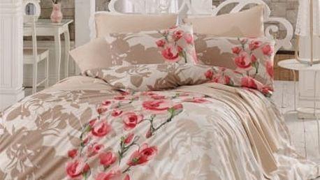 Night in Colors Francouzské bavlněné povlečení LAMIE - červená 200X220, 70x90