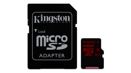 Paměťová karta Kingston 64GB UHS-I U3 (90R/80W) + adapter (SDCA3/64GB)