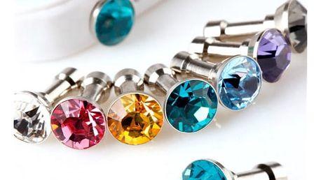 Ozdoba do konektoru sluchátek ve tvaru diamantu 10 ks - dodání do 2 dnů