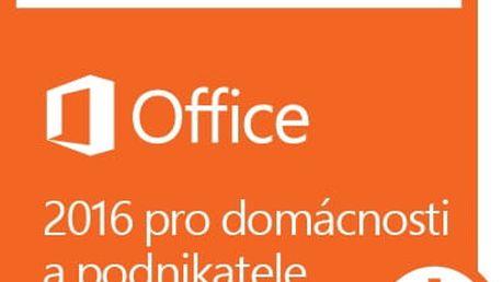Microsoft Office 2016 pro domácnosti a podnikatele - elektronicky - T5D-02316