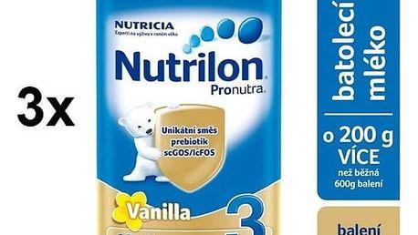 Kojenecké mléko Nutrilon 3 Pronutra Vanilka, 800g x 3ks + DÁREK + Doprava zdarma