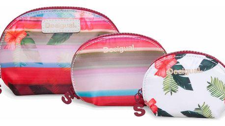 Desigual kosmetická taška 3v1 Trio Polynesia
