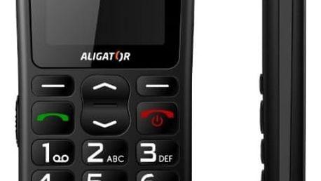 Mobilní telefon Aligator A430 černý/šedý