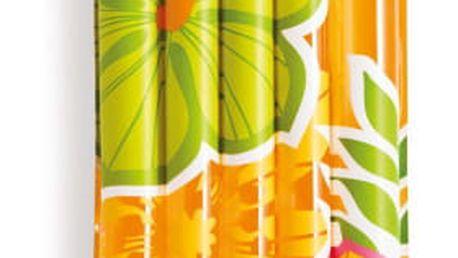 Lehátko nafukovací Intex Transparentní 183 x 169 cm žlutá