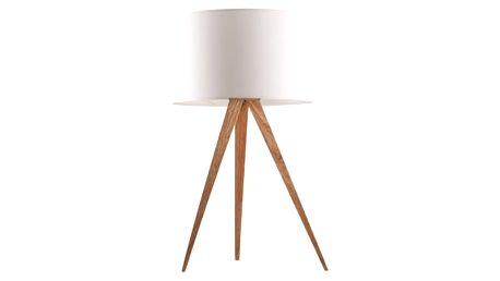 Stolní lampa Tripod wood, white - doprava zdarma!