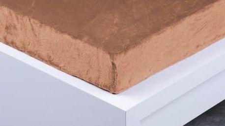 XPOSE ® Prostěradlo mikroflanel Exclusive jednolůžko - hnědá 90x200 cm